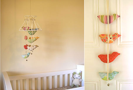Softie Bird Mobile & Garland by Poppies for Grace
