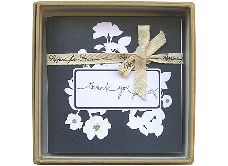 Navy Thank You Card Set by Poppies for Grace