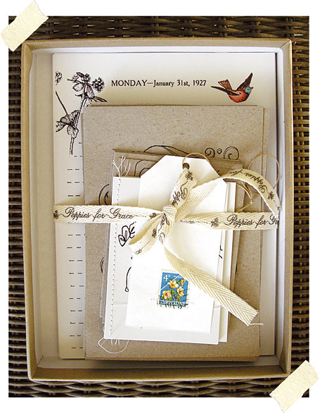 Sycamore's Handwriting Stationery Set by Poppies for Grace