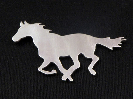 Horse silver brooch by Melbourne designer Natalie Cirillo of A Skulk of Foxes