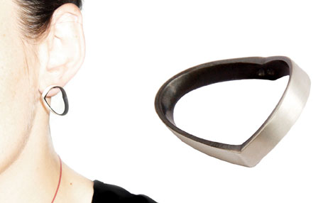 Ratio earring and ring by Sydney jewellery designer Bilingual