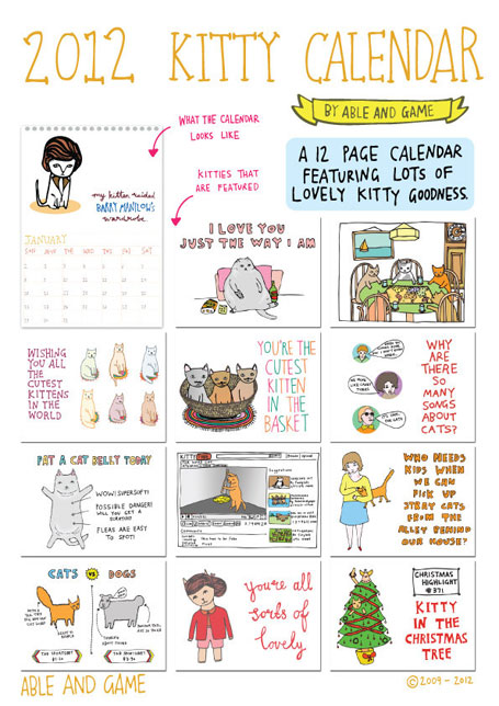 Able and Game Kitty Calendar