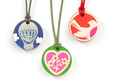 New childrens pendants from Sweet Polli available at indie art & design