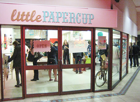 Shop front of Little Papercup, Newcastle.