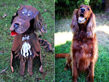 dog scupture by Teangi