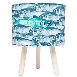Fish School Fabric Lamp - Wooden Legs - designed in Australia by Micky & Stevie