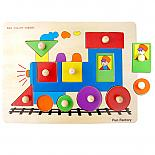 Wooden Train Puzzle with Knobs designed in Australia by Fun Factory