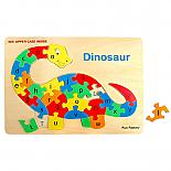 Wooden Raised Alphabet Dinosaur Jigsaw Puzzle designed in Australia by Fun Factory