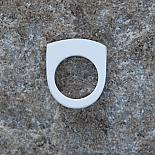 Stacking Resin Ring - white - designed and made in Australia by mooku