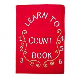 Learn to Count Book - Soft Activity Book in Red - designed in Australia by Growing World