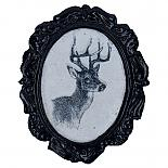 Stag Cameo Brooch by Button Tree