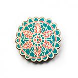 Doily Wooden Brooch - Macaroon by Polli