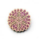 Doily Wooden Brooch - Plum by Polli