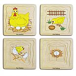 Wooden 4 Layer Egg Chicken Hen Puzzle designed in Australia by Fun Factory