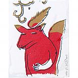 Fire Wolf Gocco on Etching Paper by benconservato