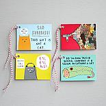 Kitty Cat Set of 8 Gift Tags - handmade in Melbourne by Able & Game