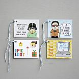Nerd Set of 8 Gift Tags - handmade in Melbourne by Able & Game