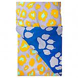 Grey Paw Leopard Print Reversible Quilt Cover designed in Melbourne by Goosebumps