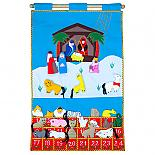 Advent Calendar Soft Felt Wall Hanging - designed in Australia by Growing World