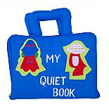 My Quiet Book Bag - Blue Soft Activity Book - designed in Australia by Growing World