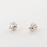 Childrens Stud Earrings - Silver Little Whales - designed in Melbourne by LoveHate