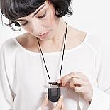 Secrets 'U' Locket Resin and Wood - Black and Transparent - designed in Melbourne by mooku