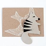 Numbat Leather Brooch by Mingus