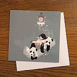 Pandi Bears Greeting Card by Schmooks
