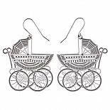 Pram Stainless Steel Earrings by Polli