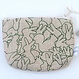 Rabbit Pile Standing Purse - Green on Natural by Mingus