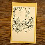 Bunny Reading Bookplate Stickers Set of 8 by Sunday Morning Designs