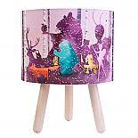 Wild Imagine Fabric Table Lamp in Pink - designed in Australia by Micky & Stevie