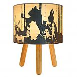 Wild Imagination Timber Table Lamp designed in Australia by Micky & Stevie