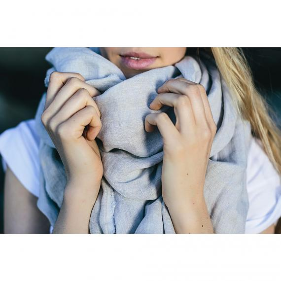 Pure Linen Two-toned Unisex Scarf - designed in Australia by Laikonik