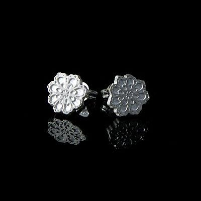 Crochet Flower Studs - Sterling Silver by a skulk of foxes