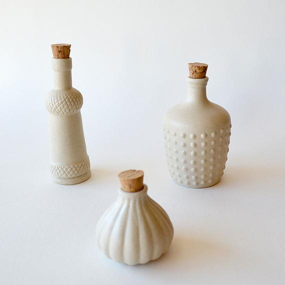Cream Matte Ceramic Bottles designed in Australia by Love Hate