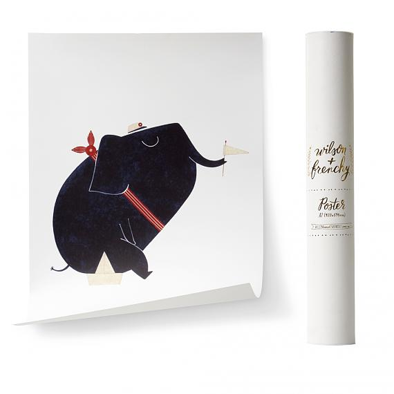 Limited Edition Nautical Elephant A2 Poster designed in Australia by wilson & frenchy