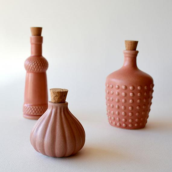 Fairy Floss Pink Ceramic Bottles designed in Australia by Love Hate