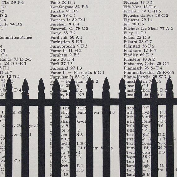 Black Fence Blockmounted Screen Print by me and amber