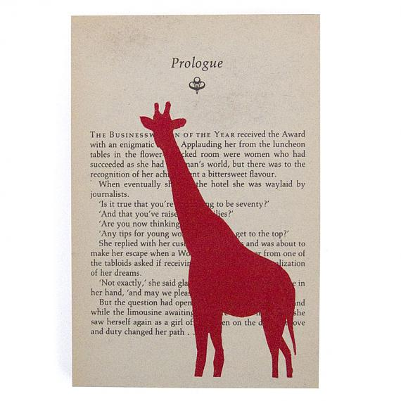 Giraffe Artwork - Rectangular, Red by me and amber