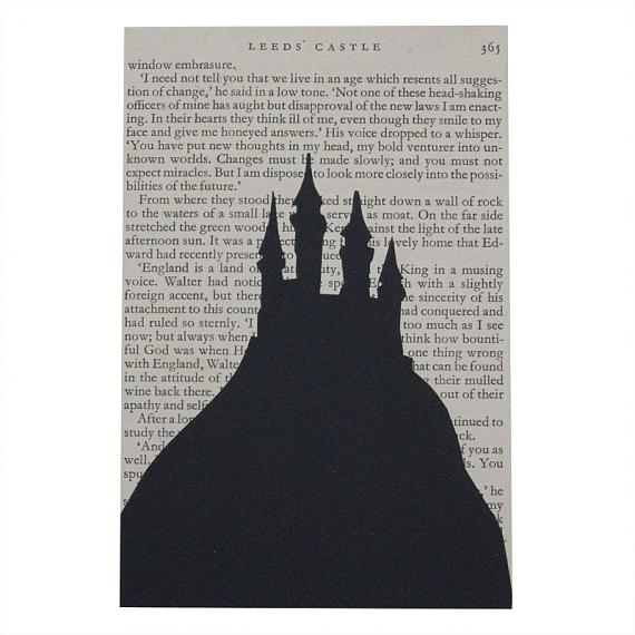(Haunted?) Castle Artwork - Rectangular, Black by Me and Amber