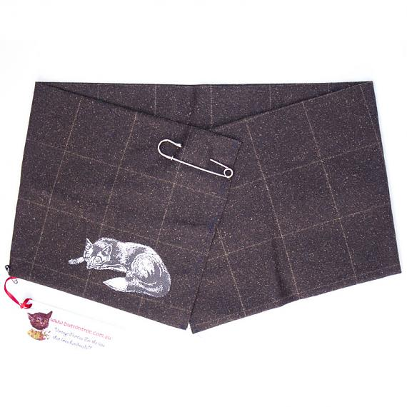 Brown Wrap with Fox Detail by Button Tree