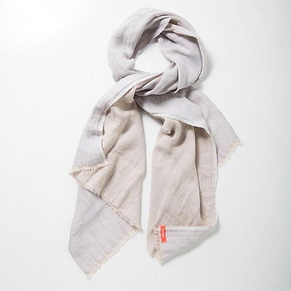 Pure Linen Two-toned Unisex Scarf - Paille | Natural - designed in Australia by Laikonik