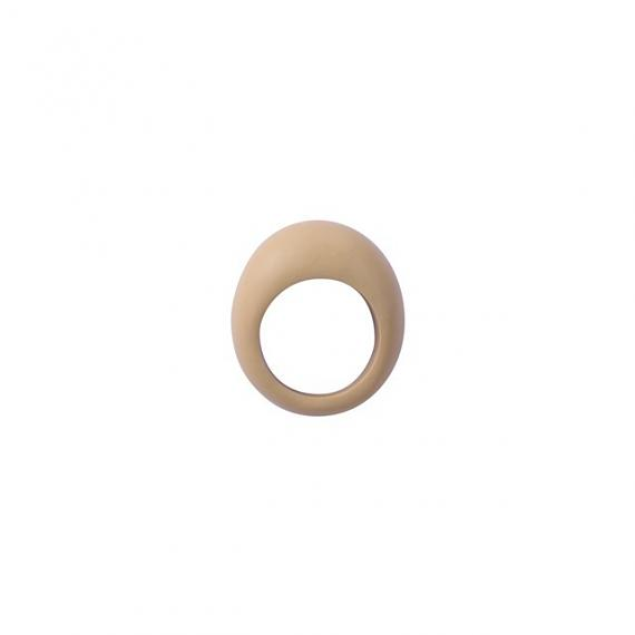 Oval Resin Ring - Mustard designed and made in Australia by mooku