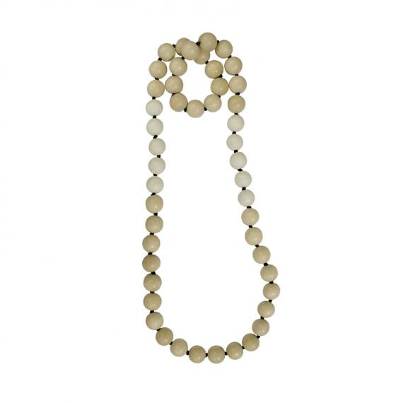Sand Ball Necklace - Natural | White, designed in Melbourne by mooku