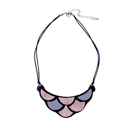Scale Resin Necklace - Black   Bamboo, designed in Melbourne by mooku