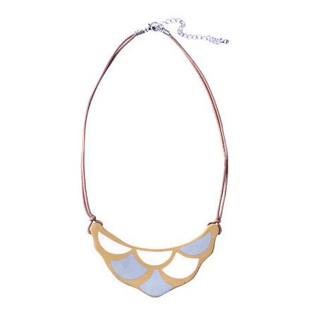 Scale Resin Necklace - Mustard, designed in Melbourne by mooku