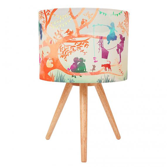Treehouse Colour Fabric Table Lamp (Turned OFF) - designed in Australia by Micky & Stevie