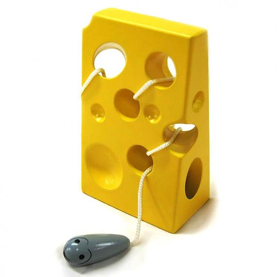 Wooden Lacing Cheese with Mouse designed in Australia by Fun Factory