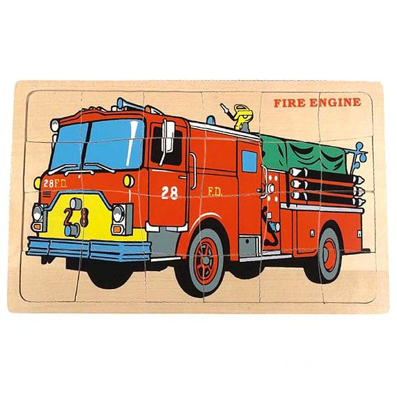 Wooden Fire Engine Jigsaw Puzzle designed in Australia by Fun Factory